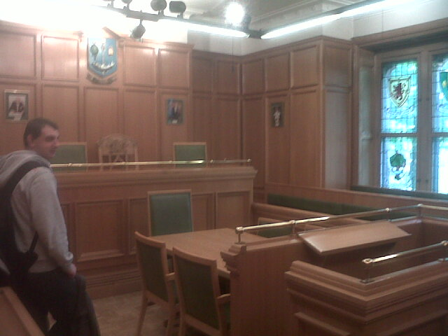 moot court at Glasgow University